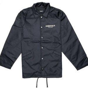fear of god essentials fw19 nylon coach jacket